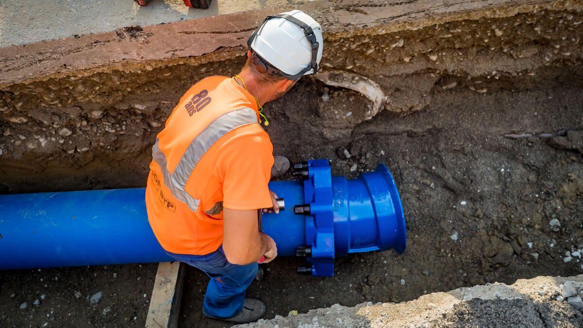 Travaux d'entretien d'un réseau d'eau potable par CECCON BTP