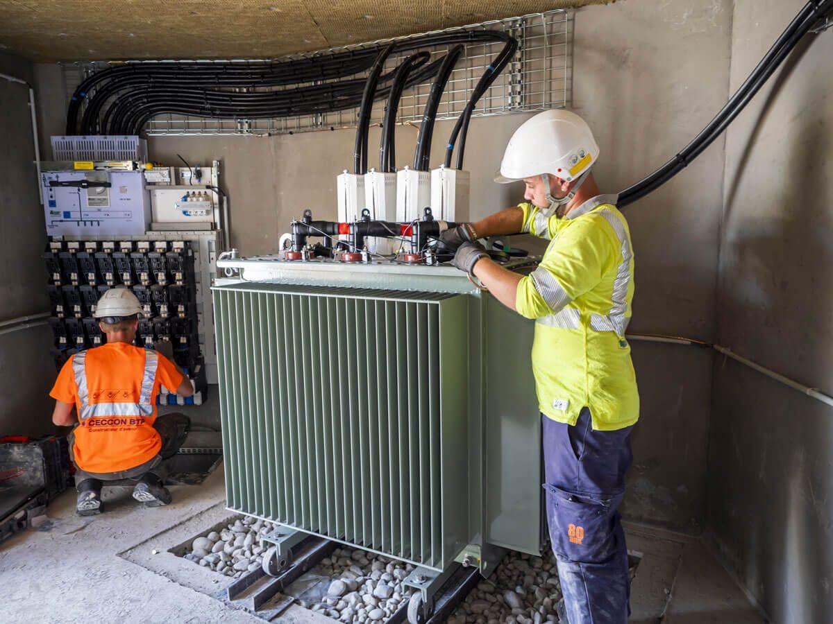 Réalisation d'un poste électrique privé par CECCON BTP