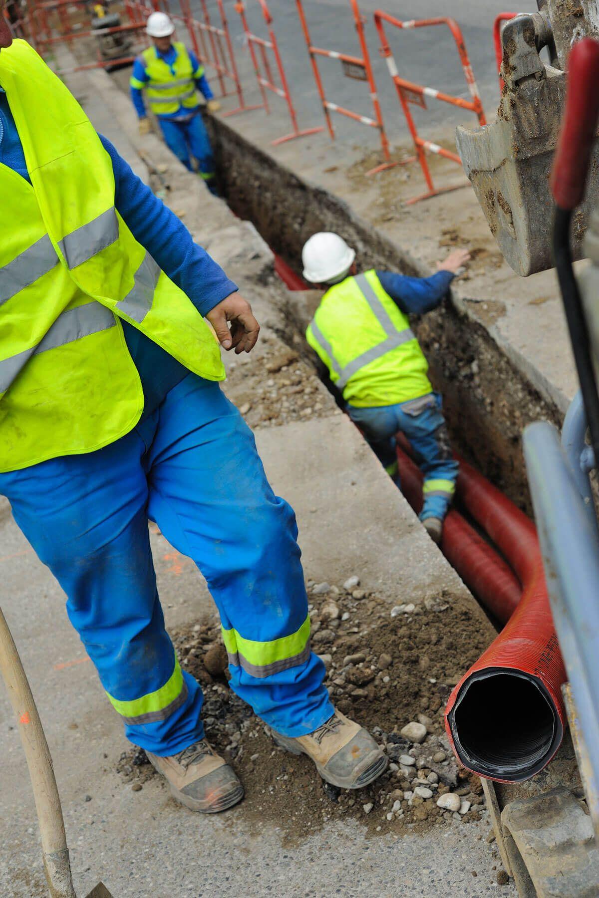 Travaux d'enfouissement de réseaux secs à Annecy avec CECCON BTP